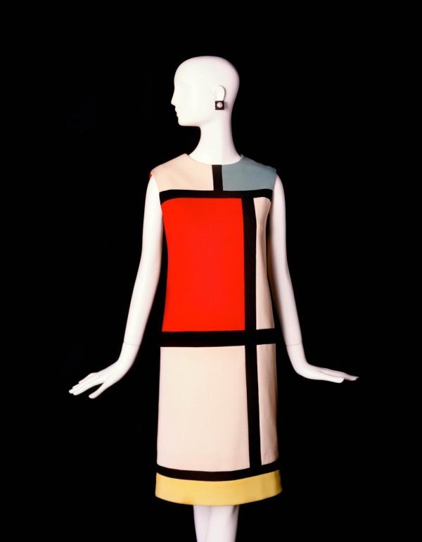 Robe hommage à Piet Mondrian, Collection haute couture automne-hiver 1965.