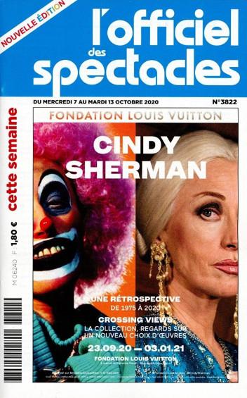 Couverture de L'Officiel des spectacles n°3822 - 7 octobre 2020