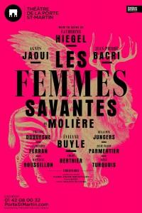 Les Femmes savantes au Théâtre de la Porte Saint-Martin : mise en scène Catherine Hiegel, avec Agnès Jaoui, Jean-Pierre Bacri, Evelyne Buyle...