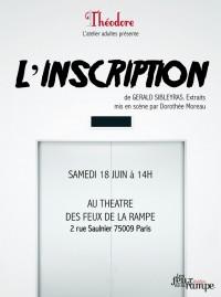 L'inscription au Théâtre Les Feux de la Rampe