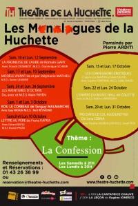 Les Monologues de la Huchette : Affiche
