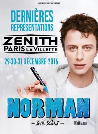 Norman sur scène au Zénith de Paris