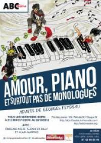 Amour, piano, et surtout pas de monologues à l'ABC Théâtre