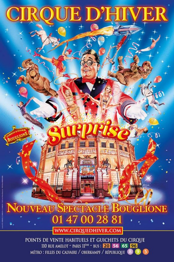 Surprise cirque d 39 hiver bouglione l 39 officiel des - Cirque electrique porte des lilas programme ...