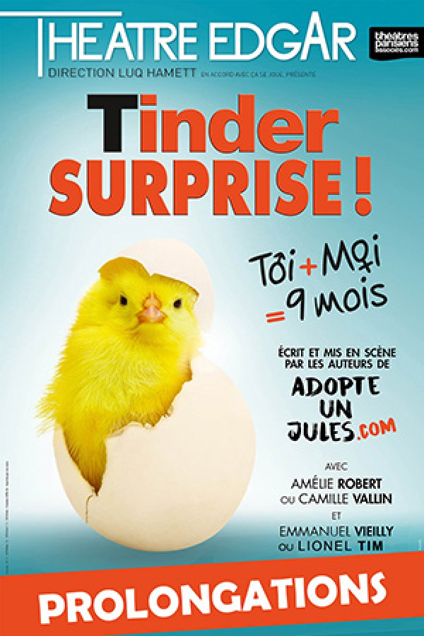 Tinder surprise au Théâtre Edgar