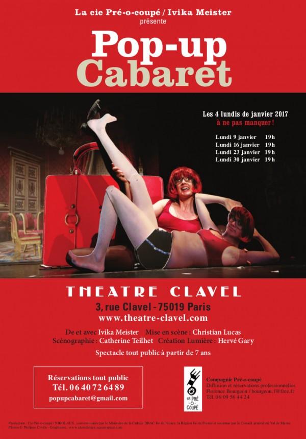 Pop-up Cabaret au Théâtre Clavel