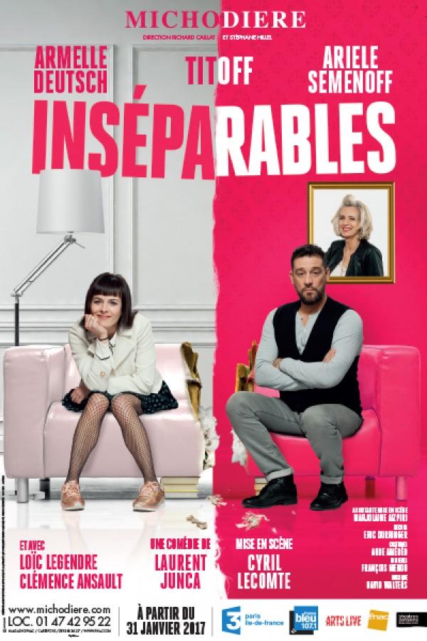 Inséparables au Théâtre de la Michodière