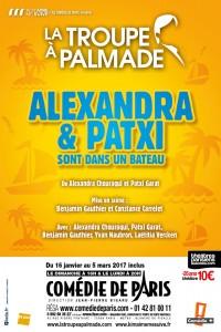 La Troupe à Palmade : Alexandra et Patxi sont dans un bateau à la Comédie de Paris