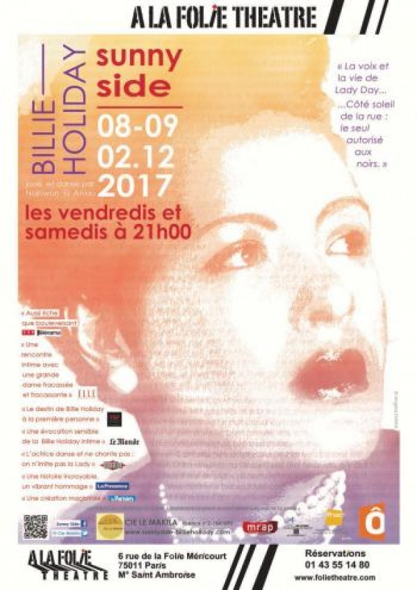 Billie Holiday - Sunny Side à la Folie Théâtre