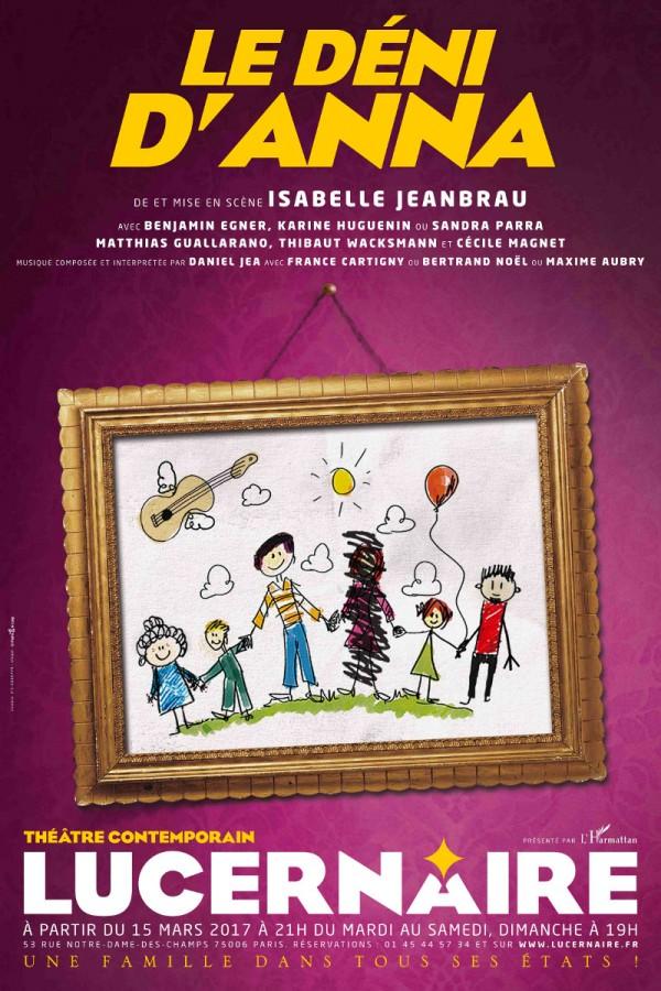 Le Déni d'Anna au Théâtre du Lucernaire