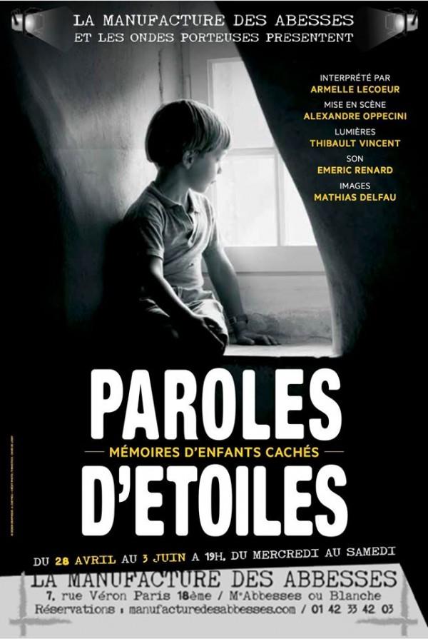 Paroles d'étoiles - Mémoires d'enfants cachés à La Manufacture des Abbesses