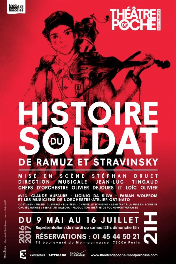 Histoire du soldat au Théâtre de Poche-Montparnasse
