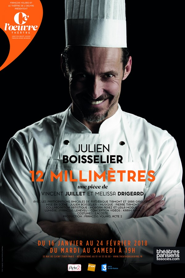 12 millimètres au Théâtre de L'Œuvre par Julien Boisselier