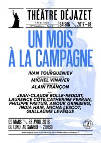 Un mois à la campagne au Théâtre Déjazet