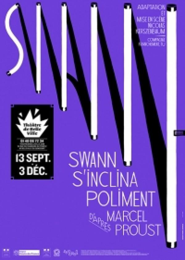 Swann s'inclina poliment au Théâtre de Belleville : Affiche