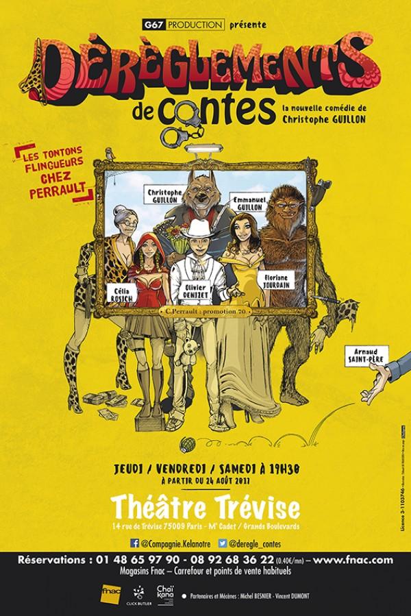 Dérèglement de contes au Théâtre Trévise : Affiche