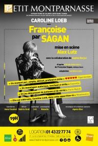 Françoise par Sagan au Théâtre Montparnasse : Affiche