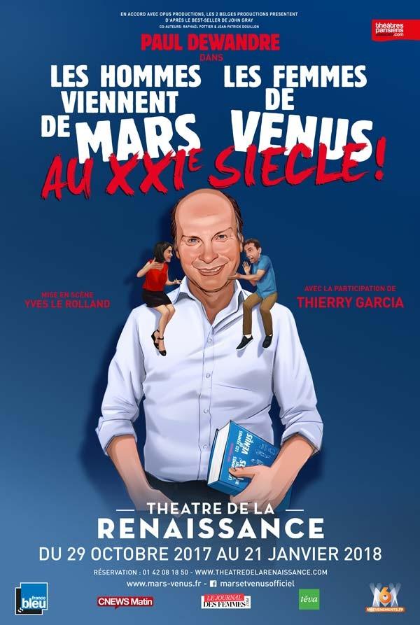 Les hommes viennent de Mars, les femmes de Vénus au XXIe siècle ! au Théâtre de la Renaissance