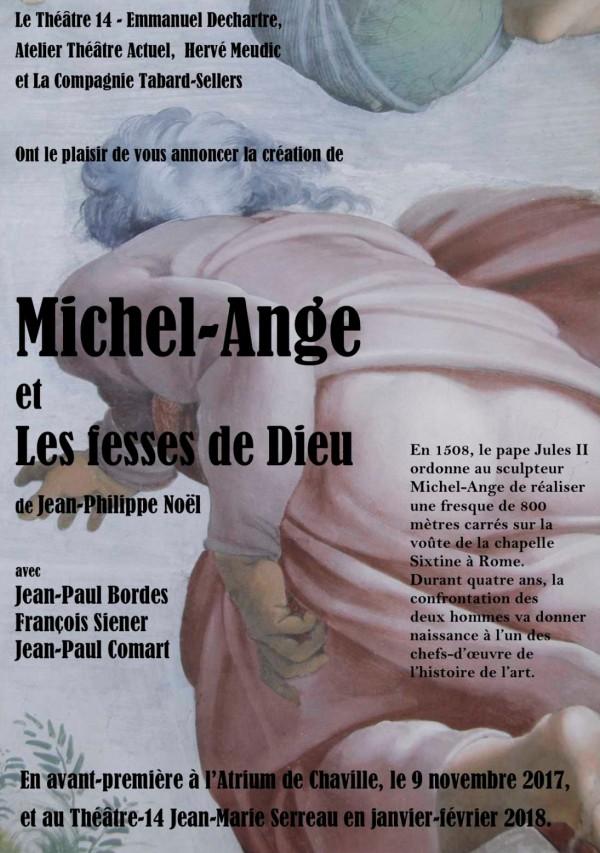 Michel-Ange et les fesses de Dieu au Théâtre 14 - Jean-Marie-Serreau