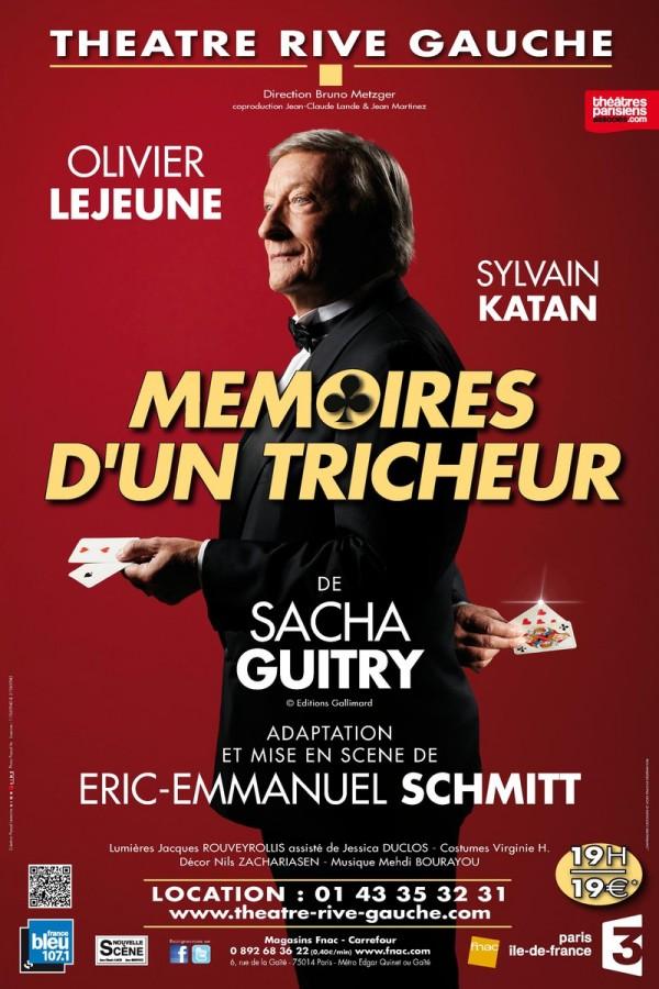 Mémoires d'un tricheur au Théâtre Rive Gauche