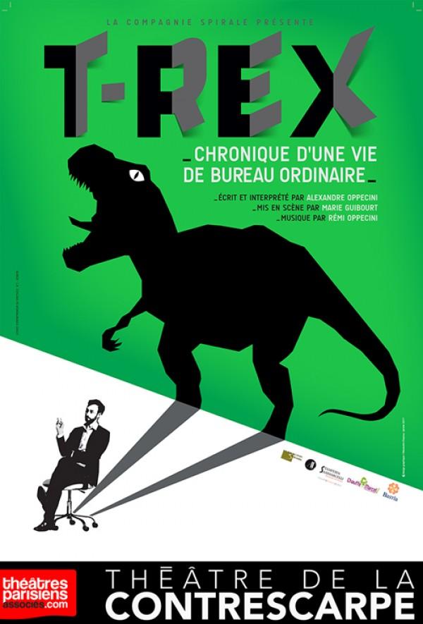 T-Rex, chronique d'une vie de bureau ordinaire au Théâtre de la Contrescarpe