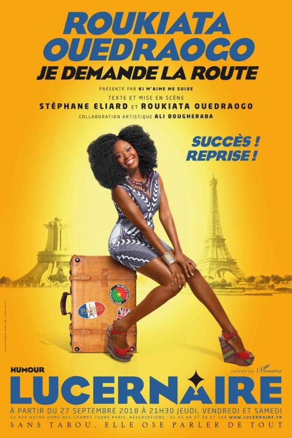 Roukiata Ouedraogo : Je demande la route au Théâtre du Lucernaire