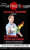 Sandrine tape sa crise au Nez Rouge