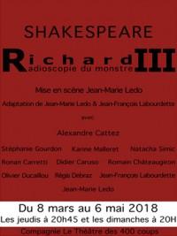 Richard III, radioscopie du monstre au Guichet-Montparnasse