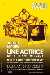 Une actrice au Théâtre de Poche-Montparnasse