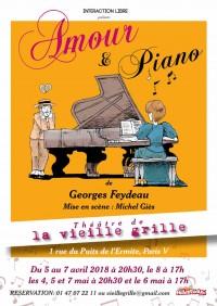 Amour et piano au Théâtre de la Vieille Grille
