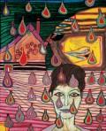 Friedensreich Hundertwasser, 632 La Grippe – Noël raté, 1966, Technique mixte, 73 x 60 cm.
