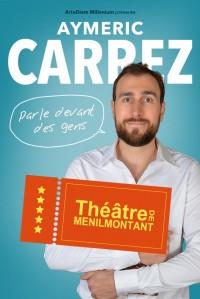 Aymeric Carrez parle devant des gens au Théâtre de Ménilmontant