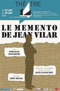 Le Memento de Jean Vilar au Théâtre 14 - Jean-Marie-Serreau