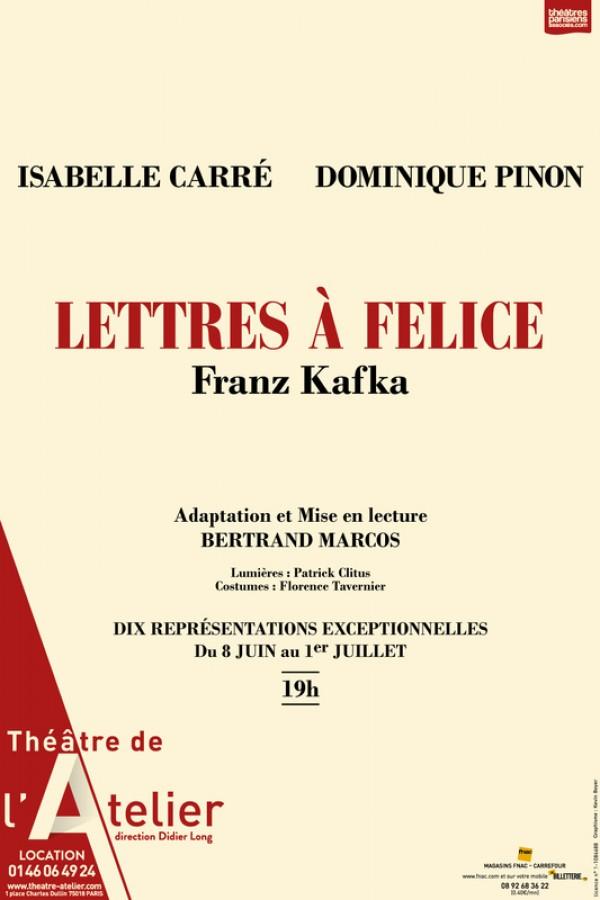 Lettres à Felice au Théâtre de l'Atelier