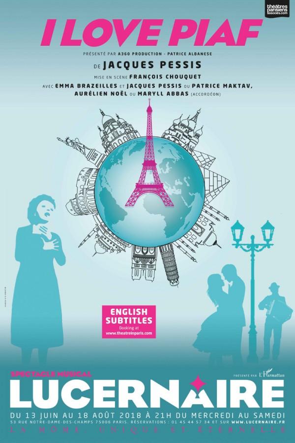 I Love Piaf au Théâtre du Lucernaire