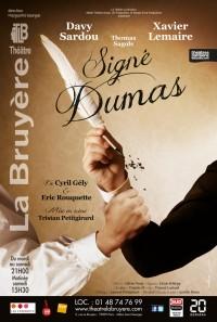 Signé Dumas au Théâtre La Bruyère