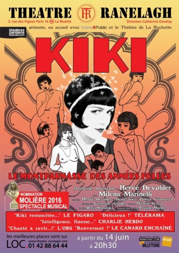 Kiki, Le Montparnasse des années folles au Théâtre Ranelagh