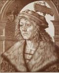 Hans Burgkmair, Portrait d'Hans Baumgartner, gravure en trois bois.