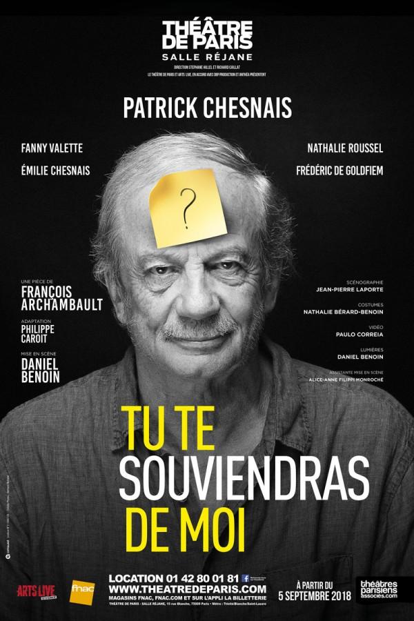 Tu te souviendras de moi au Théâtre de Paris