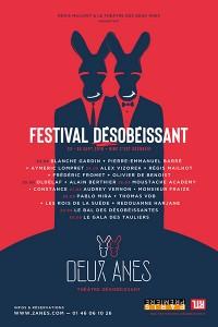 Festival désobéissant au Théâtre des Deux Ânes