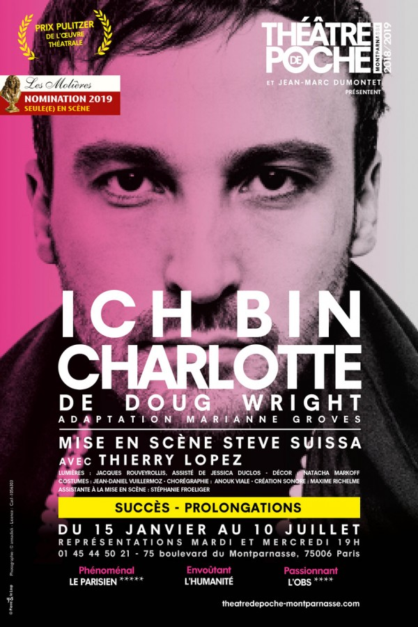 Ich bin Charlotte au Théâtre de Poche-Montparnasse