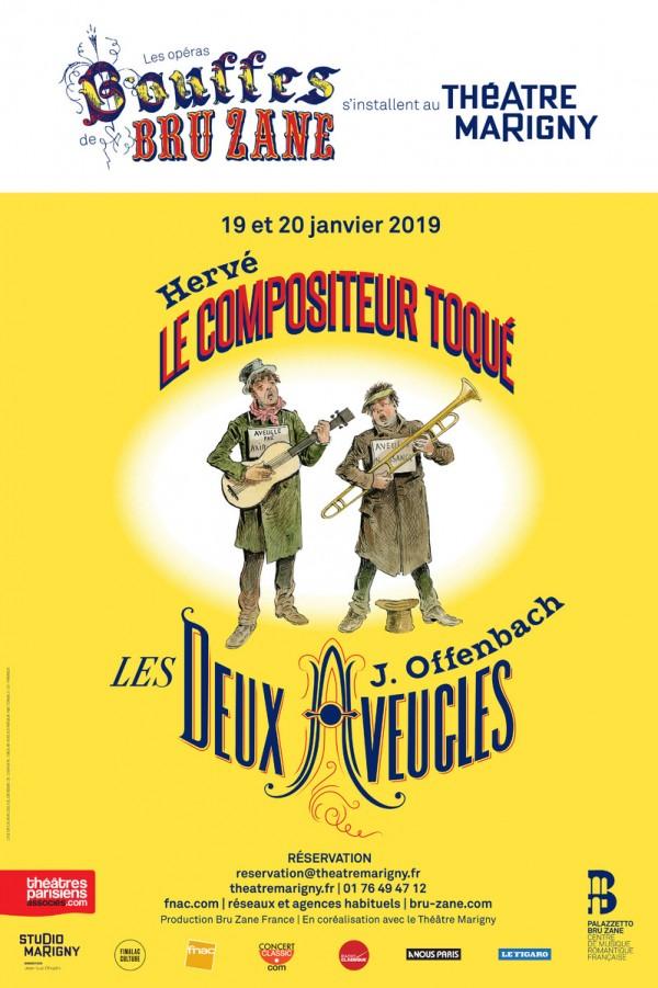 Les Deux Aveugles / Le Compositeur toqué au Théâtre Marigny