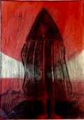 Tierra del Fuego, 2018, Cire, crayon, huile, 23,5 x 23,5 cm.