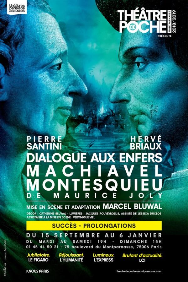 Dialogue aux enfers entre Machiavel et Montesquieu au Théâtre de Poche-Montparnasse