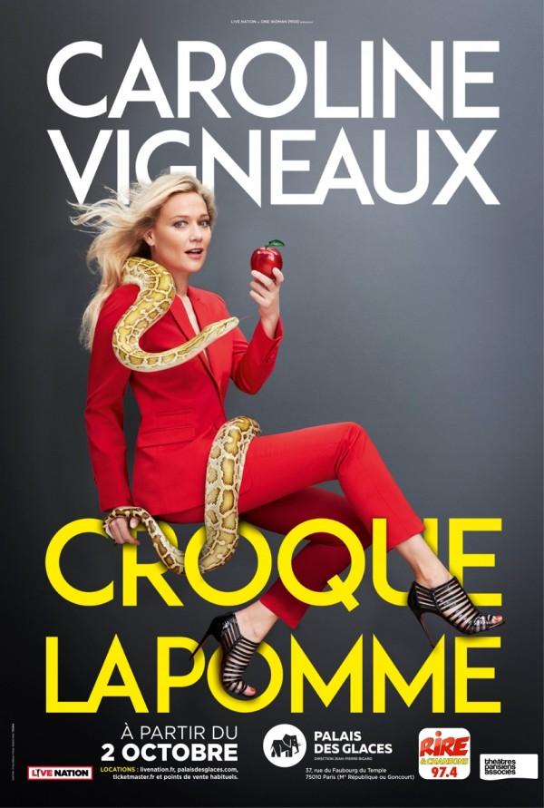 Caroline Vigneaux croque la pomme au Palais des Glaces