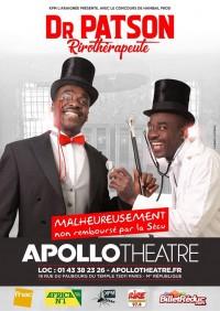 Docteur Patson rirothérapeute à l'Apollo Théâtre
