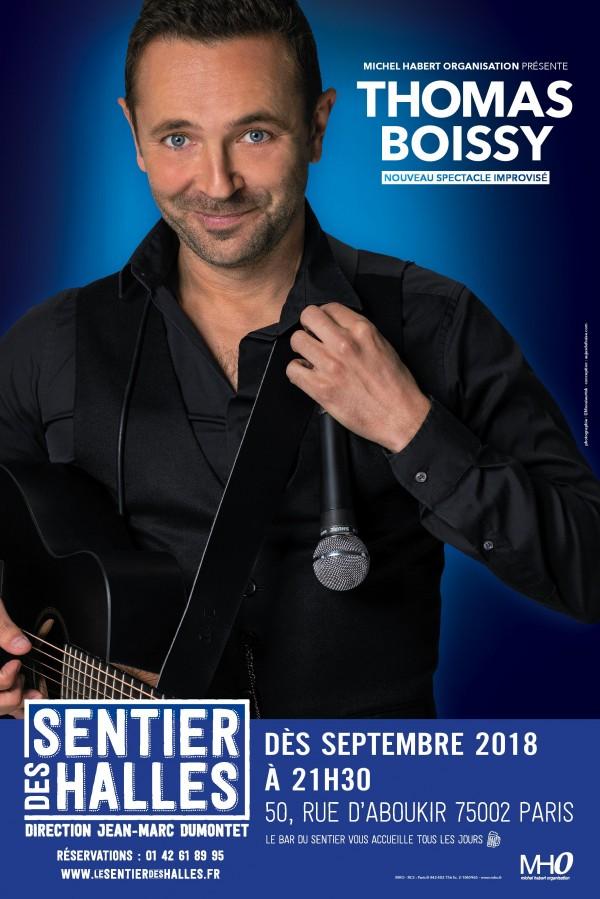 Thomas Boissy : nouveau spectacle improvisé au Sentier des Halles