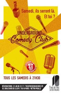 Underground Comedy Club au Théâtre de Dix Heures