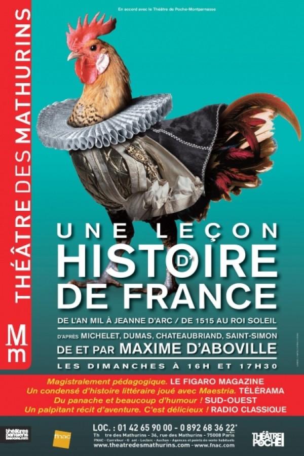 Une leçon d'histoire de France au Théâtre des Mathurins