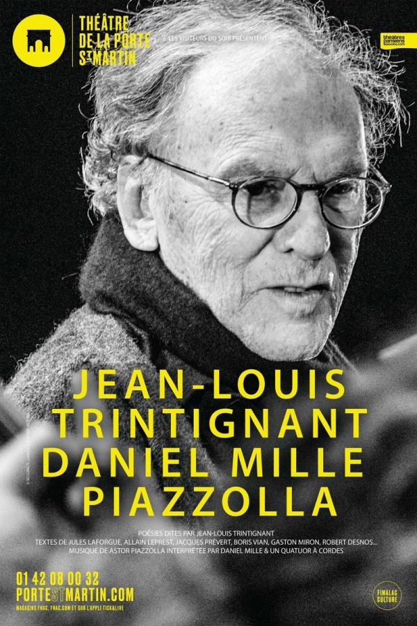 Trintignant / Mille / Piazzolla au Théâtre de la Porte Saint-Martin